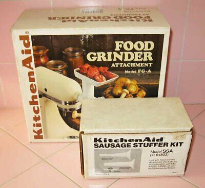 KitchenAid FGA Food Meat Grinder Attachment + Sausage Stuffer for Stand Mixer