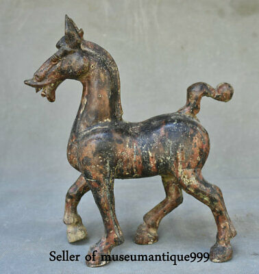 """10"""" Antique Dynasty Old Bronze Ware China Tang Horse equine Animal Sculpture"""