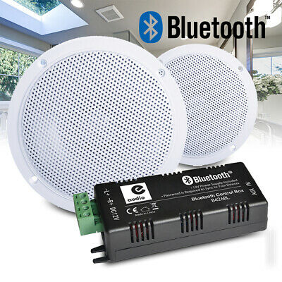Kitchen and Bathroom Ceiling Speakers Wireless Bluetooth Amplifier Home Install