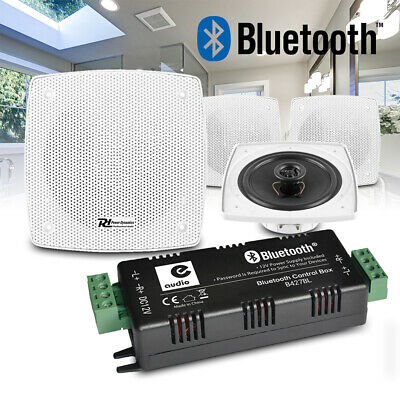 Kitchen and Bathroom Ceiling Speakers Wireless Bluetooth Amplifier (Set of Four)