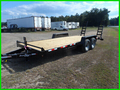 Down to Earth 82x24 wood deck equipment bobcat tractor flat bed trailer  14k