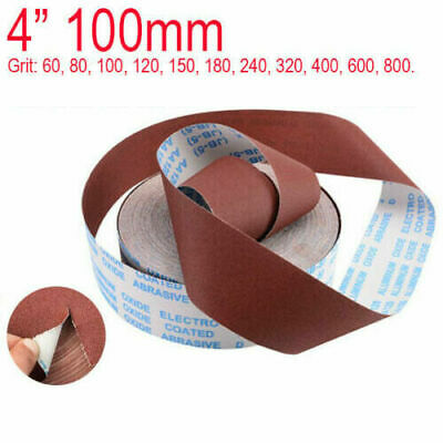4'' 100mm Wide Emery Cloth Roll Sandpaper Aluminium Oxide 60 - 800 Grit Sanding