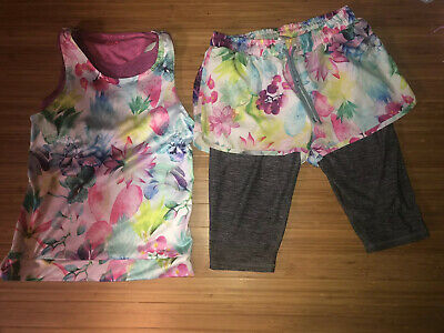 Girls Next Sports Athletic Set Outfit Running Soccer Hoody Age 11 Twofer Shorts