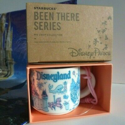 2019 Starbucks Disneyland Parks BEEN THERE Pin Drop Series 2 oz Ornament Mug