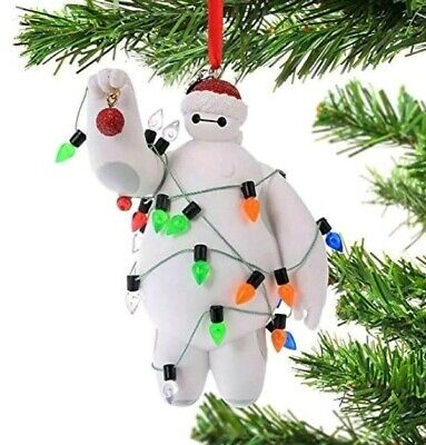 NEW WITH TAGS Disney Parks Big Hero 6 Baymax Christmas Lights Figurine Ornament