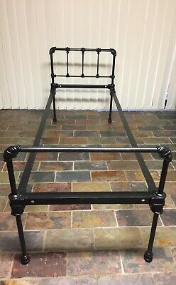 Antique Vintage Wrought Iron Bed ..Single Bed