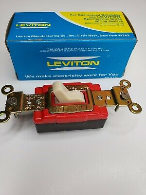 1221-2R Leviton Toggle Red Light Switch