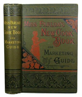 ANTIQUE COOKBOOK Vintage Cookery 1880 DECORATIVE Victorian PASTRY Confectionery