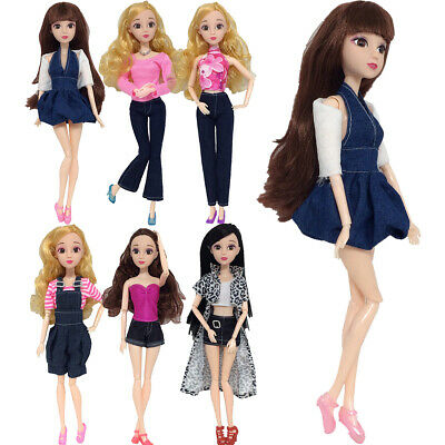 6 Set Random Clothes For Barbie Doll Casual Daily Wear Party Outfit Gown Dresses