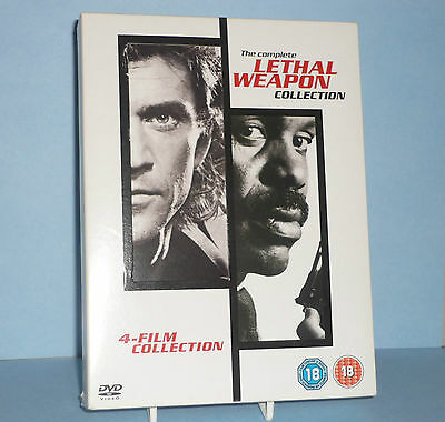 THE COMPLETE LETHAL WEAPON COLLECTION DVD 2005 1 - 4 Disc Set Boxed Set) EX/MINT