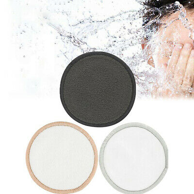 Reusable Washable Round Bamboo Cotton Cloth Clean Facial Makeup Remover Puff  ZH
