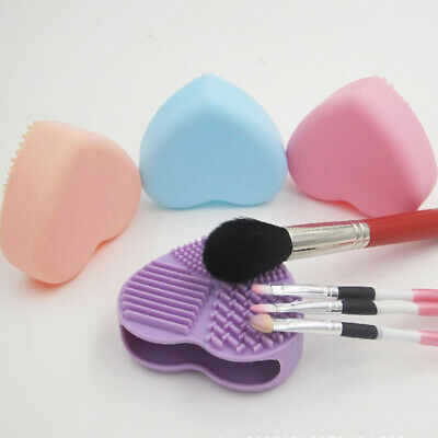 Silicone Fashion Heart Shape Egg Cleaning Glove Makeup Washing Brush Tool ZH