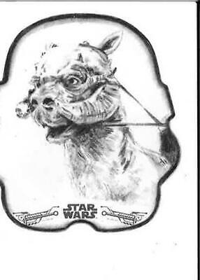Star Wars The Empire Strikes Back Black & White - Die Cut Sketch - Tauntaun
