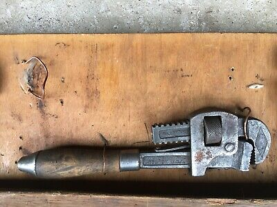 vintage stilson walworth mfg Boston adjustable wrench wooden handle