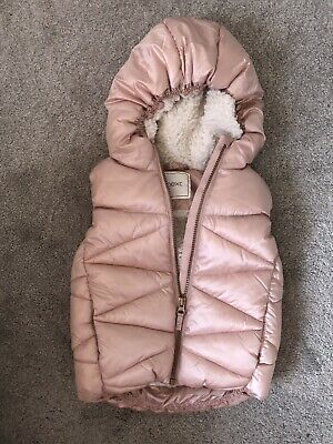 Girls Next Faux Fur Lined Gilet Age 3-4