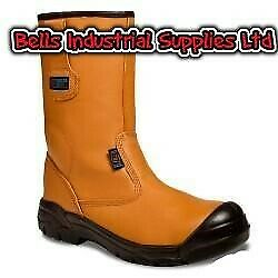 Supertouch Pro Heavy Duty Builders Tradesman  Work Safety Leather Rigger Boots