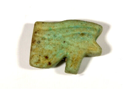 Egypt Ptolomaic Period blue faience double sided Wedjat-eyes (Eyes of Horus)