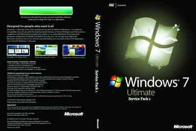 Windows 7 Ultimate SP1 64 bit full installation USB with LICENSE PRODUCT KEY.