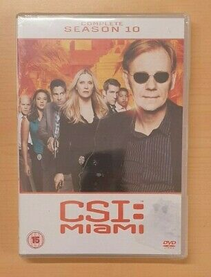 CSI MIAMI Complete Series 10 DVD 10th Tenth Final Season Ten New UK PAL