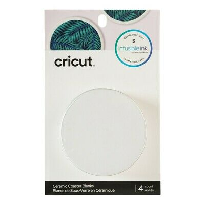 NEW Cricut Infusible Ink Blank Ceramic Round Coasters 4 Pack By Spotlight