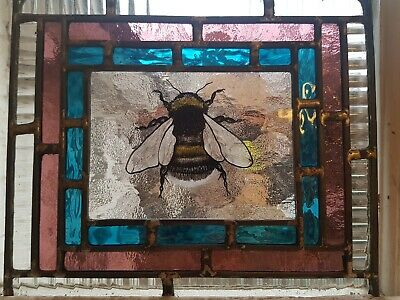 Stained Glass Bumble Bee, Suncatcher, Handmade in England