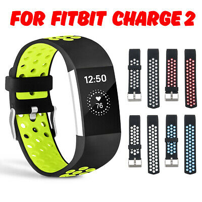 For Fitbit Charge 2 Wrist Band Strap Sports Silicone Watch Bracelet Replacement