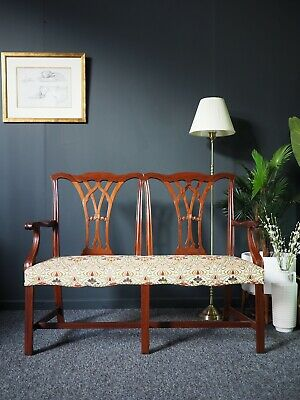 Antique Georgian Style Mahogany Chair Back Settee / Sofa UK DELIVERY AVAILABLE