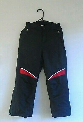 Boys Age 7 - 8 Crane Black Padded Waterproof Ski Trousers Weatherproof Winter