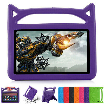 For Amazon Kindle Fire HD 10 Case HD 8 HD 7 Kids Safe EVA TPU Handle Stand Cover