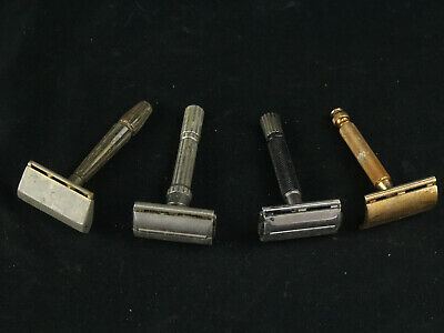 Vintage Gillette Safety Razor Lot I4, F2, Y3 & 1 Other