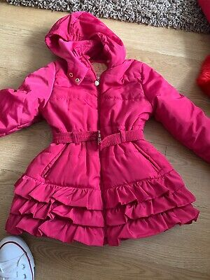 Girls Bright Pink Padded Coat Age 3 Years