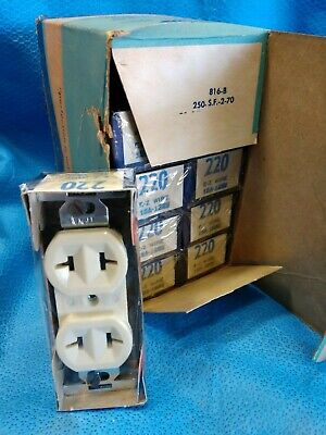 Vintage EAGLE 10 Duplex Receptacle IVORY Wall Outlet NOS Plug In Electrical