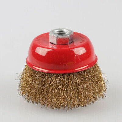 65mm Cup Shaped Steel Wire Brush Abrasive Polishing Grinding Cleaning Wheel Tool