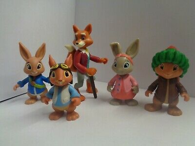 Peter Rabbit And Friends 5Pcs Toy Figure/Cake Topper Set - New - Uk Seller