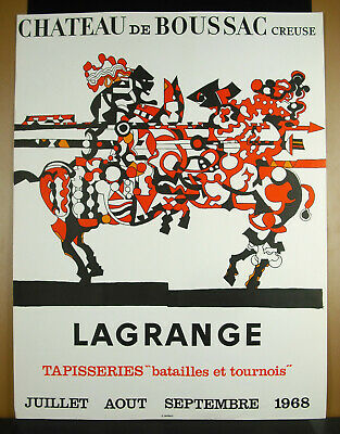 Cartel Original Jacques Lagrange 1968 Castillo Boussac Tapices Mourlot