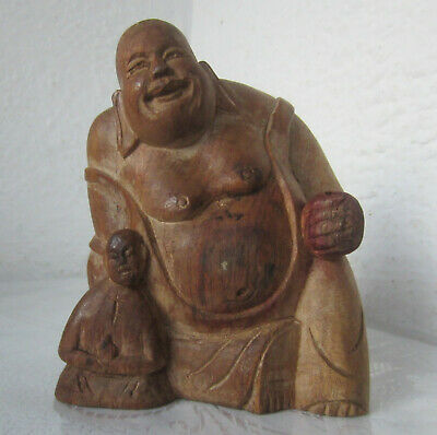 Antique Buddha hand carved wooden Statue figure,  Wood  Carving