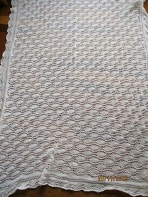 Vintage White Babies Hand Knitted Shawl