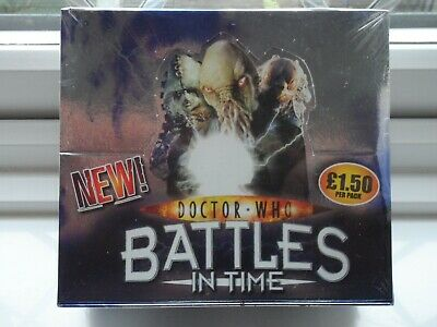 dr who factory sealed box ultimate monsters trading cards lot 3rd battles time