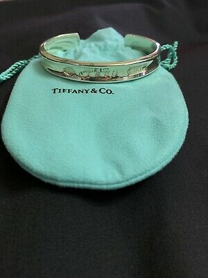 Tiffany & Co 1837 Solid Sterling Silver 925 Cuff Bracelet Bangle 1997
