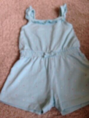 Girls Turquoise with coloured spots PlaySuit/Romper Suit age 3-4 years