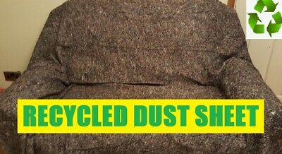 3 x QUALITY RECYCLED HEAVY DUTY COTTON MIX DUST SHEETS ECO FRIENDLY