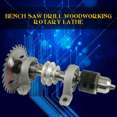 Spindle Chuck Bearing Seat Pulley Bench Saw Drill Woodworking Rotary Lathe NEW