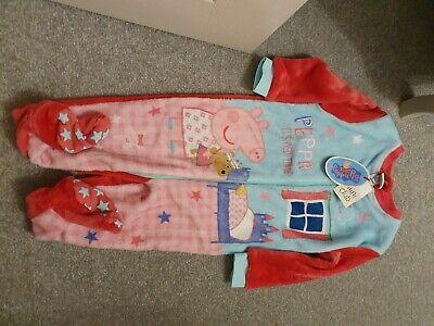 BNWT Boots Mini Club Peppa Pig Fleecey One Piece 2-3 Years ♡