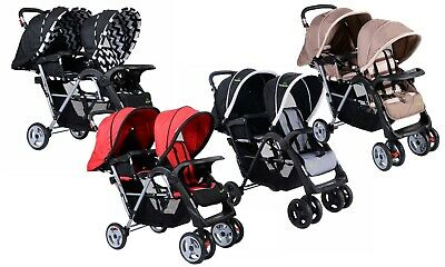 Foldable Twin Baby Double Stroller Kid's Travel Infant Pushchair Boys Girls