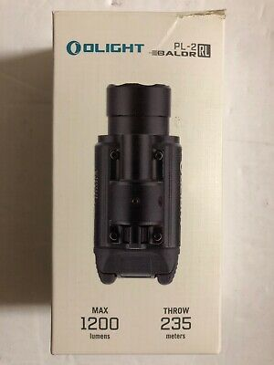 NEW! OLIGHT PL-2RL 1200 Lumens, HI Red Laser Gun Light Open Box