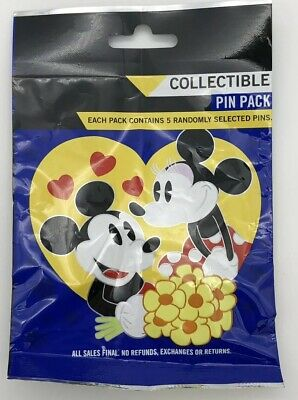 Disney Parks Couples Pin Pack Love Princess Mystery Pack 5 Pins Sealed New Bag
