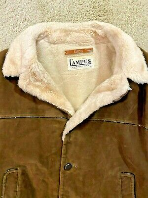 Vintage Campus Outerwear USA Made Sherpa Lined jacket Mens Size 44