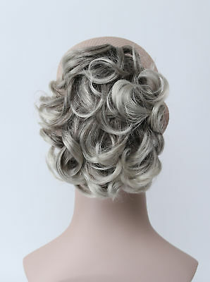 Gray Mix Short Curly Wavy Claw Clip Ponytail Hairpieces Daily Hair Extensions 7 13 Picclick