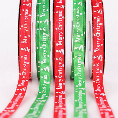 25 Yards/Roll Gift Wrapping Ribbon Happy Merry Christmas Ribbons 22 Metres Red