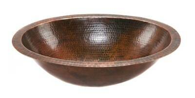 Oval Under Counter Hammered Copper Bathroom Sink [ID 125306]